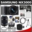 Samsung - Bundle NX3000 Smart Wi-Fi Digital Camera with 16-50mm Lens & Flash (Black) - Black