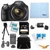 Sony - Bundle DSC-H400/B 63x Optical Zoom 20.1MP HD Video Digital Camera Kit - E4SNDSCH400B