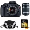 Canon - Bundle EOS Rebel T5 18MP DSLR Camera w/ 18-55mm & 55-250mm Lens Instant Rebate Kit - E4CNDRT51855