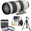 Canon - EF 70-200mm f/2.8 L IS II USM Zoom Lens with 3 (UV/FLD/CPL) Filters + Tripod + Cleaning Kit