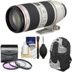Canon - EF 70-200mm f/2.8 L IS II USM Zoom Lens with Backpack + 3 (UV/FLD/CPL) Filters + Cleaning Kit