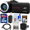 JVC - Everio GZ-R10 Quad Proof Full HD Digital Video Camera Camcorder w/ 32GB Card+Case+HDMI Cable+Acc Kit - Black