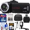 JVC - Everio GZ-R30 Quad Proof Full HD Digital Video Camera Camcorder w/ 32GB Card+Case+LED Light+Tripod - Black