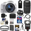 Canon - EOS Rebel SL1 Camera+EF-S 18-55 IS STM Lens+75-300 Lens+32GB+Battery+Case+Flash+2 Lenses+Tripod Kit - White