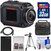 JVC - GC-XA2 Adixxion Quad Proof Full HD Wi-Fi Digital Video Action Camera Camcorder w/ 32GB Card+Battery - Black