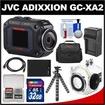 JVC - Bundle GC-XA2 Adixxion Quad Proof Full HD Wi-Fi Digital Video Action Camera Camcorder