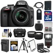 Nikon - Bundle D3300 Digital SLR Camera & 18-55mm G VR DX II AF-S Zoom Lens (Black) - Black