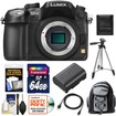 Panasonic - Lumix DMC-GH3 Micro Four Thirds Camera Body +64GB Card+Batt+Backpack Case+Tripod+HDMI Cable+Acc Kit - Black