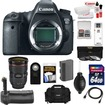 Canon - EOS 6D Digital SLR Camera Body with EF 24-70mm f/2.8 L II Lens+64GB Card+Battery+Grip+Case+3 Filters