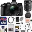 Olympus - OM-D E-M1 Micro 4/3 Camera+12-40mm f/2.8 Lens Black+40-150mm Lens+64GB Card+Case+Battery+Charger - Black
