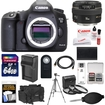 Canon - EOS 5D Mark III DSLR Camera Body+50mm f/1.4 USM Lens+64GB Card+Batt+Chrgr+Case+3 Filters+Tripod Kit - Black