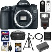Canon - EOS 70D Digital SLR Camera Body with 64GB Card+Battery+Case+Flash+Tripod+HDMI Cable+Acc Kit - Black
