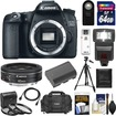 Canon - EOS 70D Digital SLR Camera Body with 40mm f/2.8 STM Lens+64GB Card+Battery+Case+Flash+Remote+Tripod