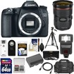 Canon - EOS 70D Digital SLR Camera Body with EF 24-70mm f/2.8L Lens+64GB Card+Battery+Case+Flash+Tripod+Acc