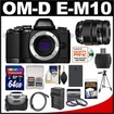 Olympus - Bundle OM-D E-M10 Micro 4/3 Digital Camera Body (Black) - Black