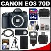 Canon - Bundle EOS 70D Digital SLR Camera Body
