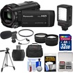 Panasonic - HC-V750K HD Wi-Fi Video Camera Camcorder w/ 32GB Card+Case+LED Light+Mic+Tripod+Filter+Tele Lens