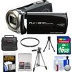 Bell and Howell - DV12HDZ 1080p HD Video Camera Camcorder with 16GB Card + Case + Tripod + Filter + Accessory Kit - Black