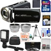 Bell and Howell - DV12HDZ 1080p HD Camcorder +32GB Card+Battery+Case+Tripod+Filters+Video Light+Tele/Wide Lens Kit - Black