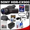 Sony - Bundle Handycam HDR-CX900 Wi-Fi HD Video Camera Camcorder