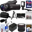 Sony - Handycam FDR-AX100 Wi-Fi 4K HD Camcorder+64GB Card+Case+LED Light+Battery+Mic+Tripod+Fisheye Lens