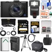 Sony - Cyber-Shot DSC-RX100 II Wi-Fi Camera +64GB Card+Battery+Charger+Case+Tripod+Flash+3 Filters+Adapter - Black