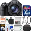 Sony - Cyber-Shot DSC-HX400V Wi-Fi Digital Camera with 32GB Card + Case + Battery + Tripod + Filter + Kit - Black