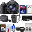 Sony - Cyber-Shot DSC-HX400V Wi-Fi Digital Camera w/ 64GB Card+Case+Battery+Charger+Tripod+Tele/Wide Lenses - Black