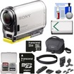 Sony - Action Cam HDR-AS100V Wi-Fi GPS HD Video Camera Camcorder w/ 32GB Card+Battery+Universal Head Mount