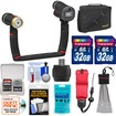 SeaLife - SL967 Universal Underwater Photo/Video Sea Dragon Duo 2000 Flash+Video Light Set w/2 32GB Cards+Case