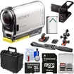 Sony - Action Cam HDR-AS100V Wi-Fi GPS HD Video Camera Camcorder w/ 32GB Card+Battery+LCD Cradle+Helmet Mnt