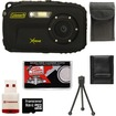 Coleman - Xtreme C5WP Shock + Waterproof Digital Camera (Black) with 8GB Card + Case + Accessory Kit - Black
