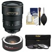 Nikon - 17-55mm f/2.8 G DX AF-S ED-IF Zoom-Nikkor Lens w/ 2x Teleconverter+3 UV/FLD/CPL Filters+Clean Kit - Black