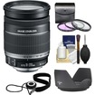 Canon - EF-S 18-200mm f/3.5-5.6 IS Zoom Lens with 3 UV/FLD/CPL Filters + Hood + Accessory Kit - Black