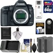 Canon - EOS 5D Mark III DSLR Camera Body w/ 64GB Card+2 Batts+Charger+Remote+Acc Kit - Black