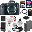Canon - EOS 6D DSLR Camera Body w/ 64GB Card+2 Batts+Charger+Sling Strap+HDMI Cable+Remote+Acc Kit - Black