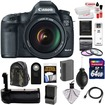 Canon - EOS 5D Mark III Camera+EF 24-105 L IS USM Lens+64GB Card+Batt+Charger+Grip+Backpack Case+3 Filters - Black