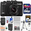 Canon - PowerShot G16 Wi-Fi Digital Camera w/ 64GB Card+Case+Batt+Charger+Tripod+Acc Kit - Black