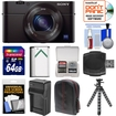 Sony - Cyber-Shot Bundle Cyber-Shot DSC-RX100 III Wi-Fi Digital Camera - Black