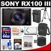 Sony - Cyber-Shot Bundle Cyber-Shot DSC-RX100 III Wi-Fi Digital Camera - Black