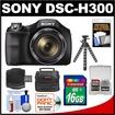 Sony - Cyber-Shot Bundle Cyber-Shot DSC-H300 Digital Camera - Black