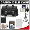 Canon - Bundle 200DG Digital SLR Camera Case - Gadget Bag w/ LP-E8 Battery