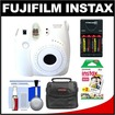 Fujifilm - Instax Mini 8 Instant Film Camera with Instant Film + Case + Batteries + Charger + Kit - White