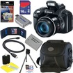 Canon - Bundle PowerShot SX50 HS Digital Camera w/ 50x Optical IS Zoom + 16GB Deluxe Accessory Kit - ACANPSSX50K3