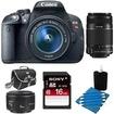 Canon - Bundle EOS Rebel T5i SLR Camera w/ 18-55mm STM, 55-250mm, 50mm Deal - E2CNDRT5I1855