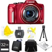 Canon - Bundle PowerShot SX170 IS 16MP Digital Camera Ultimate Kit - E4CNPSSX170ISR - Red