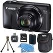 Canon - Bundle PowerShot SX600 HS 16.1MP 18x Zoom 3-inch LCDKit - E2CNPSSX600HSK - Black