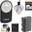 Canon - RC-6 Wireless Remote Shutter Release Controller f/ EOS 60D 70D 6D 7D 5D Mark III w/ LP-E6 Batt+Acc