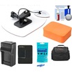 Vivitar - Essentials Pack f/ GoPro HD HERO 3 Action Camcorder w/ Surfboard Mount+Battery+Charger+Case+Acc Kit