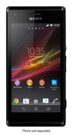 Sony - Xperia M Cell Phone (Unlocked) - Black - Black